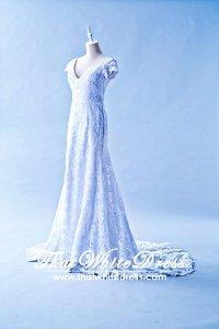 305W007 Vintage Sleeves Wedding Dress Designer Malaysia