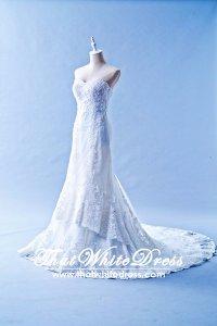 401W003 Trumpet Lace Heart Shape Tube Double Tier Wedding Dress Designer Malaysia