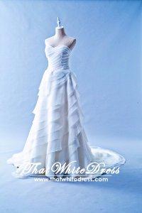 401W006 Princess A Line Brown Layered Rufffles Wedding Dress Designer Malaysia