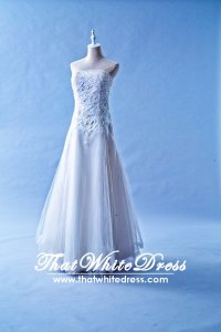 401WL002 MM A Line Lace Floor Length 1 Wedding Dress Designer Malaysia
