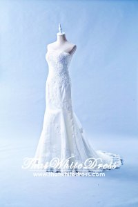 601W01 SG Straight Tube Trumpet lace 1 Wedding Dress Designer Malaysia