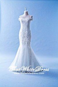 601W03 BR Off Shoulder Trumpet Wedding Dress Designer Malaysia