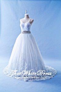 503W02 IS One Shoulder Lace Princess Wedding Dress Designer Malaysia