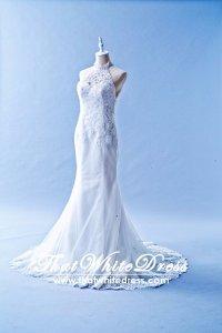 506W04 LL Anna Halter Neck Wedding Dress Designer Malaysia
